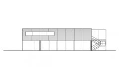 elevacion lateral Casa en la planicie