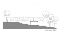 Corte estructural Casa Talavera