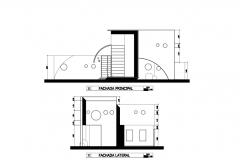 Alzados casa yahualli