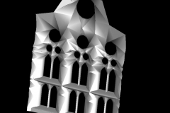 estructura interior alabeada