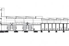 corte longitudinal Planta Industrial La Caravedo