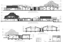 06 propuesta centro elevaciones y cortes CASA DE ACOGIDA NINAHUASI