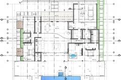 Planta arquitectonica con ejes