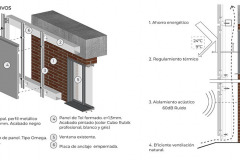 DETALLE CONSTRUCTIVO COLEGIO INTISANA REHABILITACIÓN EDIFICIO DE PRIMARIA