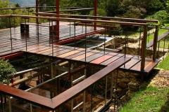 5- Terraza y caja de vidrio del Estudio