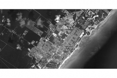 Aerea Playa del Carmen Gray Scale