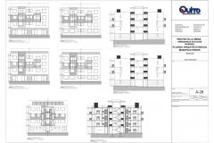 CORTES Y FACHADAS D50 BLOQUES A,B,C,D