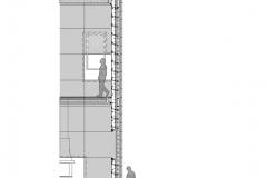 Corte por fachada CASONA DEL SXX