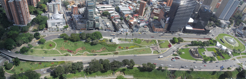 Foto aerea Plaza Venezuela
