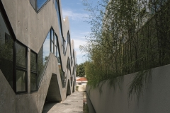 west façade perspective