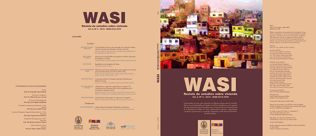 WASI. REVISTA DE ESTUDIOS SOBRE VIVIENDA