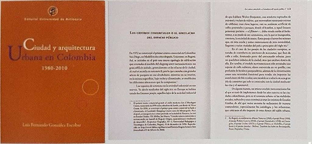 CIUDAD Y ARQUITECTURA URBANA EN COLOMBIA 1980-2010
