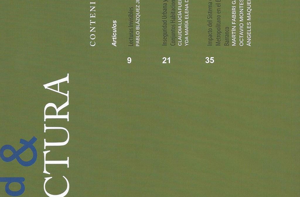 INVESTIGACIONES EN CIUDAD & ARQUITECTURA